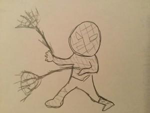 スパイダーマン絵
